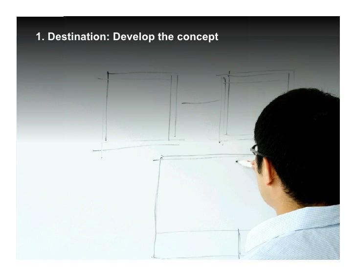1. Destination: Develop the concept                                           Google Confidential and Proprietary