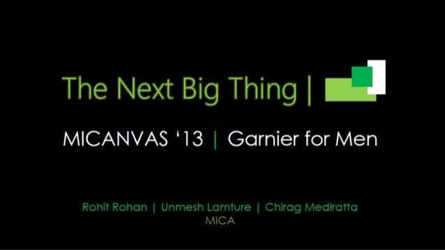 Business Idea for Garnier_Round II entry