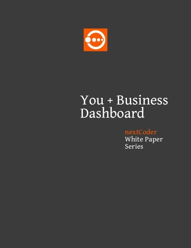 You + Business Dashboard nextCoder White Paper Series