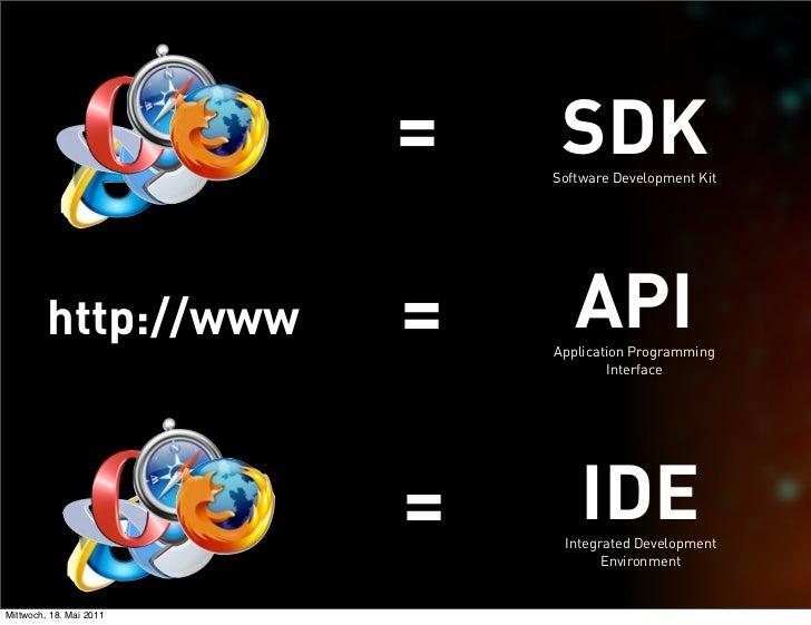 =    SDK                             Software Development Kit         http://www      =      API                          ...