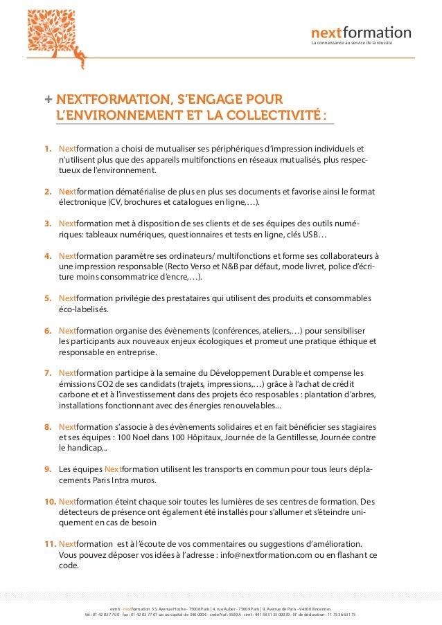 nextformation   10 engagements pour le d u00e9veloppement durable