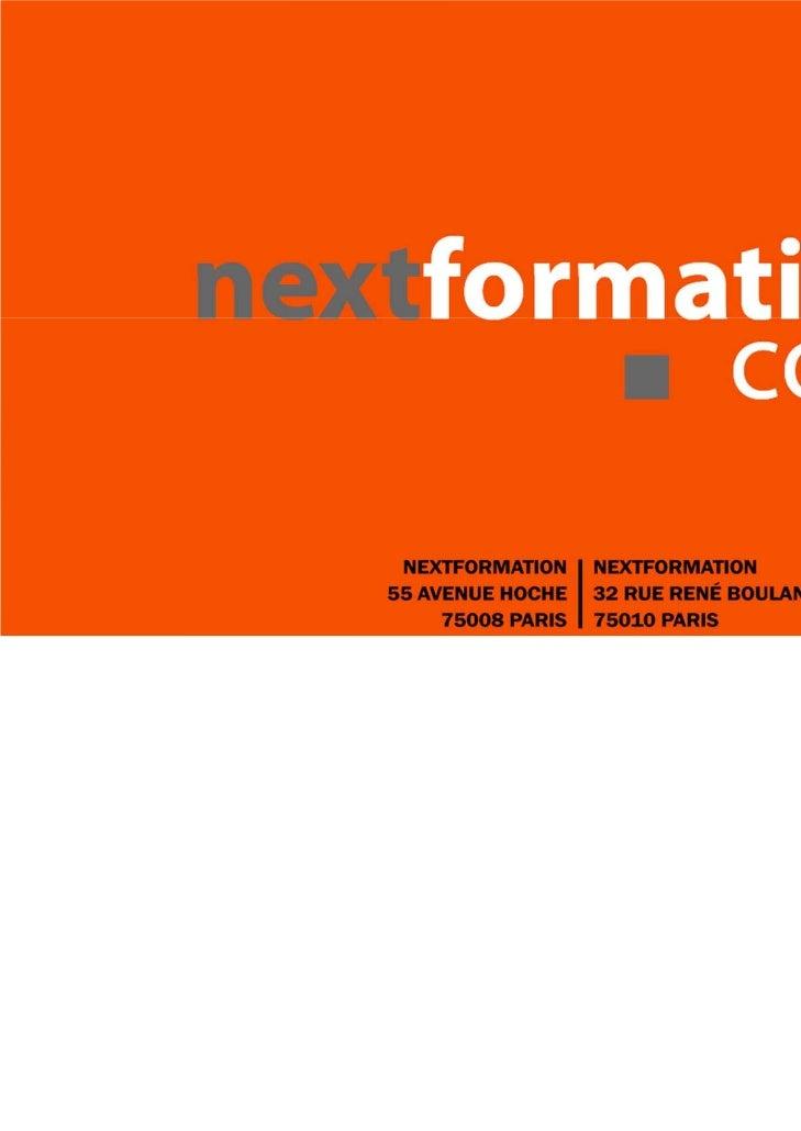 Nextformation organisme de formation professionnelle