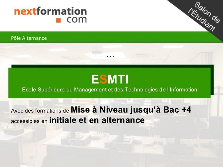 Pôle Alternance                                    …                              ESMTI    Ecole Supérieure du Management ...