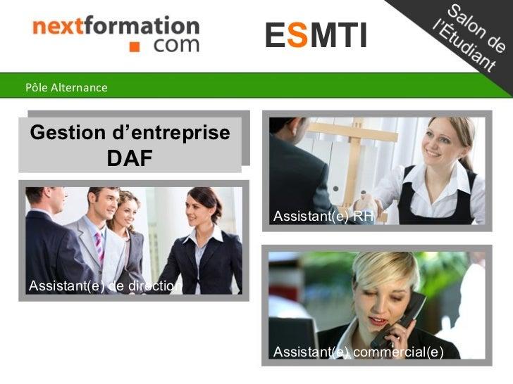 ESMTIPôle AlternanceGestion d'entreprise              DAF                            Assistant(e) RHAssistant(e) de direct...