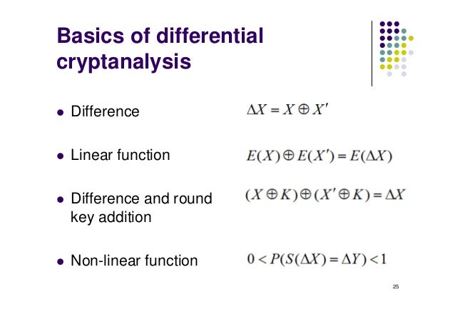 des differential cryptanalysis Block ciphers and des keywords: avalanche in des, strength of des, differential cryptanalysis, linear cryptanalysis, block cipher design principles.