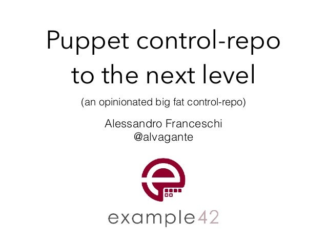 Puppet control-repo