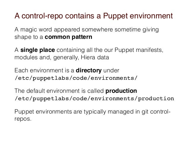Puppet control-repo to the next level