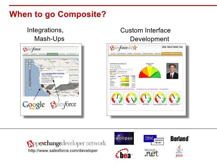 When to go Composite? <ul><li>Integrations, Mash-Ups </li></ul>http://www.salesforce.com/developer Custom Interface Develo...