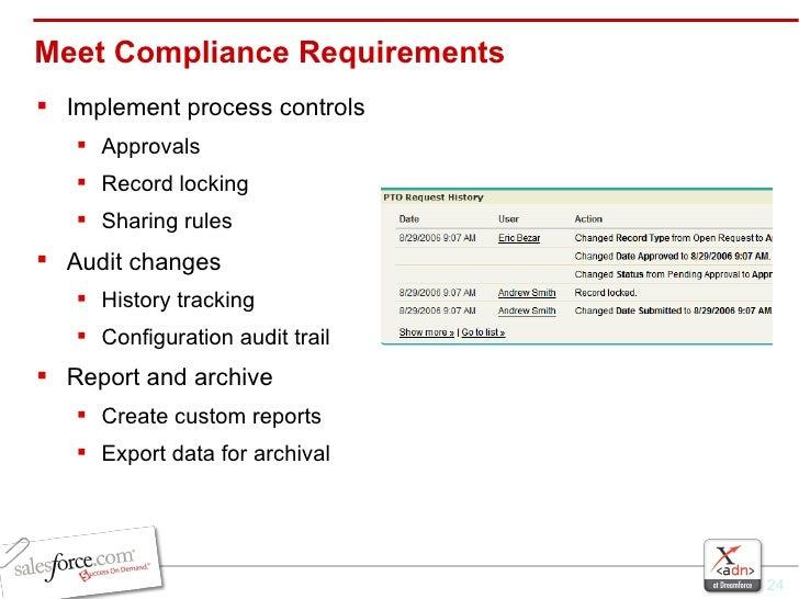 Meet Compliance Requirements <ul><li>Implement process controls </li></ul><ul><ul><li>Approvals </li></ul></ul><ul><ul><li...