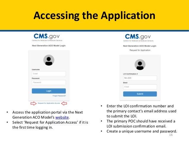 Open Door Forum: Next Generation ACO Model - Application