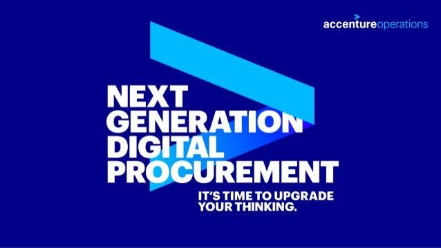 Next Generation Digital Procurement