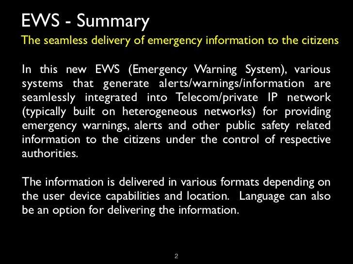 Next Generation Emergency Warning System