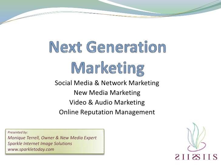 Social Media & Network Marketing                             New Media Marketing                           Video & Audio M...