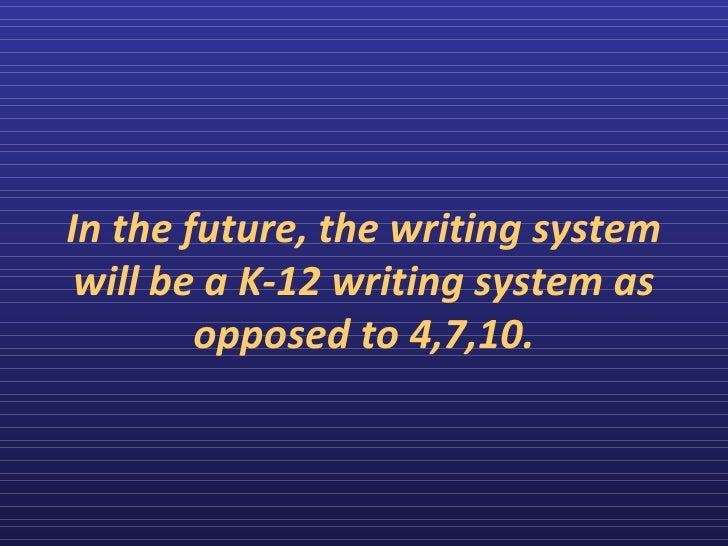 the implementation of k12 essay Details about the implementation of these trends and the unique challenges presented  k12pdf 3 nagel, d.