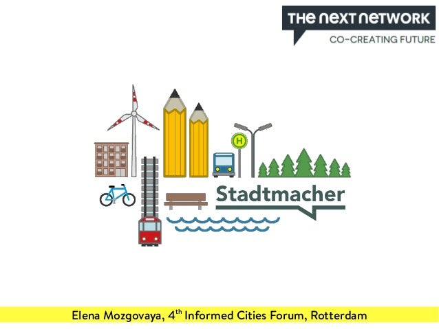 Elena Mozgovaya, 4th Informed Cities Forum, Rotterdam