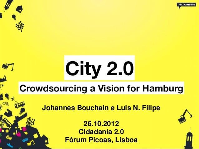 Johannes Bouchain e Luis N. Filipe           26.10.2012          Cidadania 2.0      Fórum Picoas, Lisboa