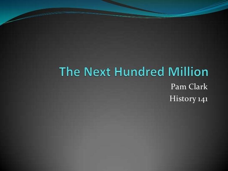Pam ClarkHistory 141