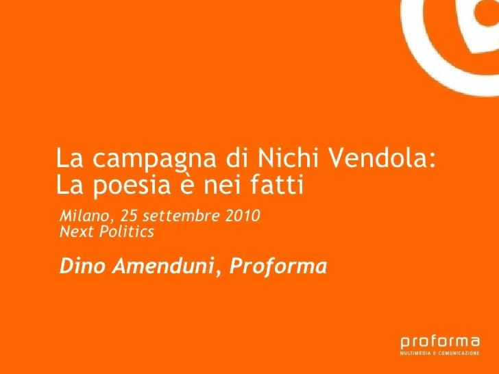 La campagna di Nichi Vendola - la poesia è nei fatti