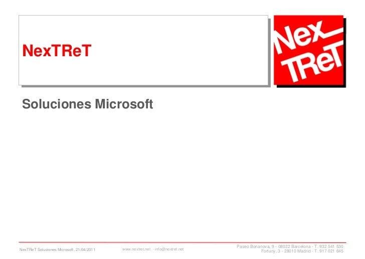NexTReT Soluciones Microsoft                                                                                Paseo Bonanova...