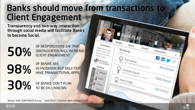 Banks should move from transactions to Client Engagement Transparency and two-way interaction through social media will fa...