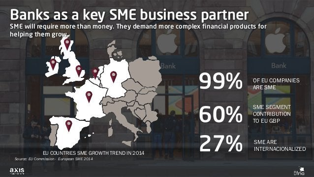 Banks as a key SME business partner SME will require more than money. They demand more complex financial products for help...