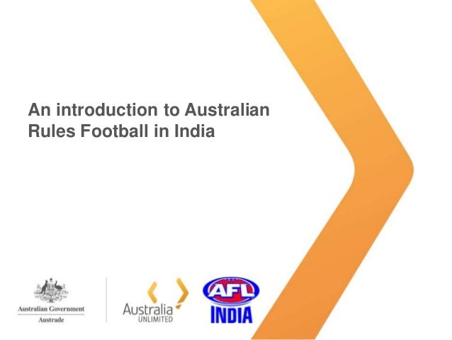 An introduction to Australian Rules Football in India