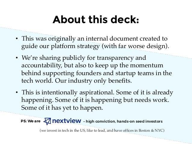 NextView Platform Strategy and Principles Slide 3