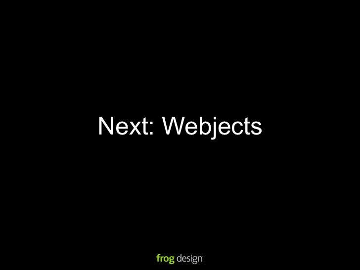 Webjects #2: Web inside the object