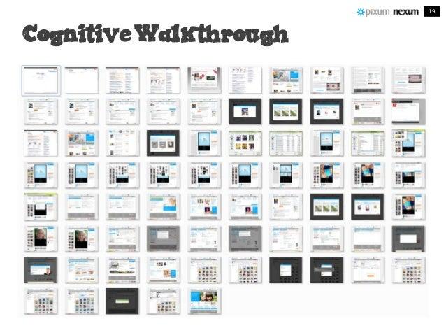 Cognitive Walkthrough Cognitive Walkthrough 19