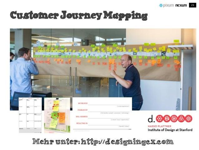 Customer Journey Mapping Customer Journey Mapping Mehr unter: http://designingcx.com 21