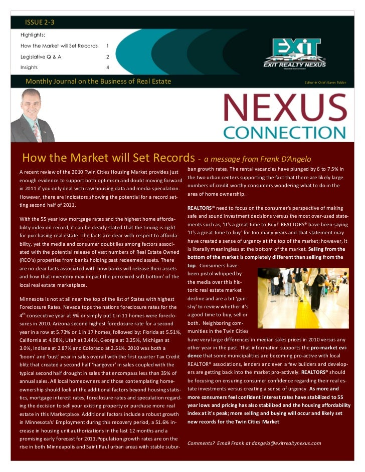 ISSUE 2-3Highlights:How the Market will Set Records       1Legislative Q & A                     2Insights                ...