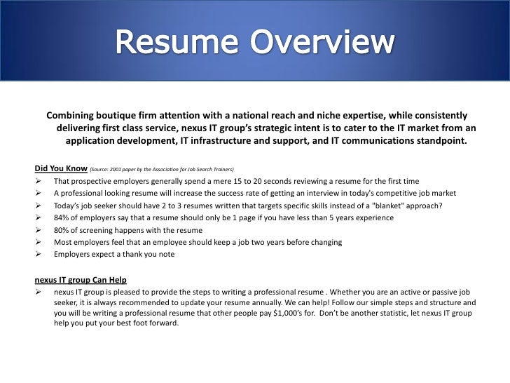 2 - Resume Writing Group