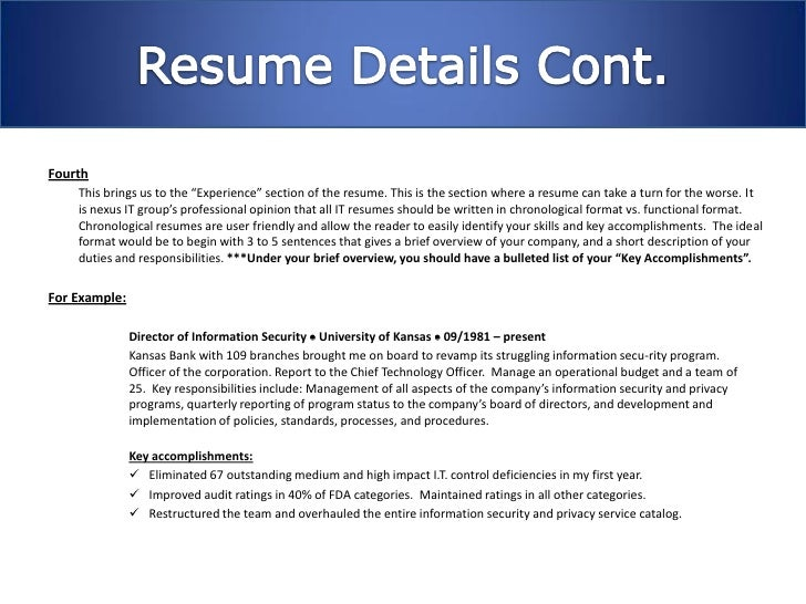 4. Fifth The Last Step In Writing A Great Resume ...