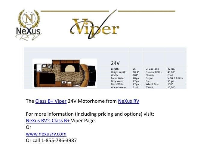 Class B Rv Manufacturers >> NeXus RV class b plus