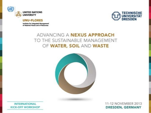 Nexus thinking for decision makers  Present and future management challenges  Danka Thalmeinerova Global Water Partnership