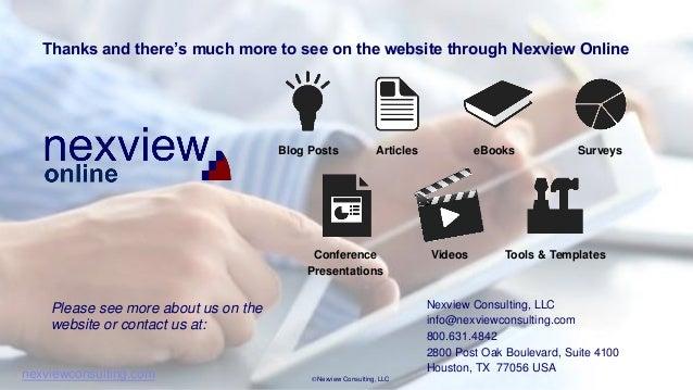 Nexview Key Topics In S U0026op Survey Results