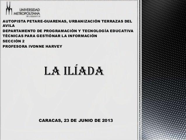 AUTOPISTA PETARE-GUARENAS, URBANIZACIÓN TERRAZAS DELAVILADEPARTAMENTO DE PROGRAMACIÓN Y TECNOLOGÍA EDUCATIVATÉCNICAS PARA ...