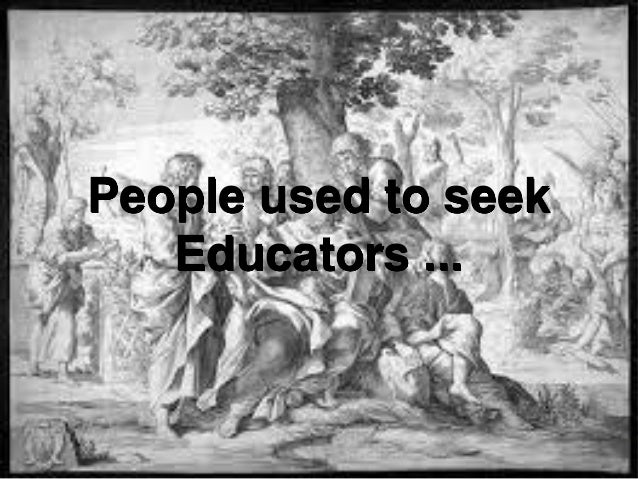 Education: Why? How? Mohammad Tawfik #WikiCourses http://WikiCourses.WikiSpaces.com People used to seek Educators ...