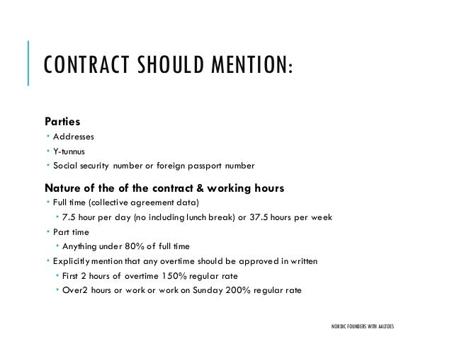 Working Contract Forteforic