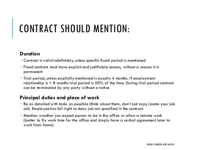 Startup Employment Contracts And Actual Cost Of Hiring People | Nordi…