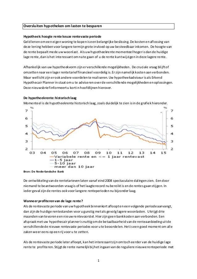 Nfa oversluiten hypotheek september 2015 for Hoogte hypotheek