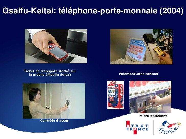 Osaifu-Keitai: téléphone-porte-monnaie (2004)          Ticket de transport stocké sur         le mobile (Mobile Suica)    ...