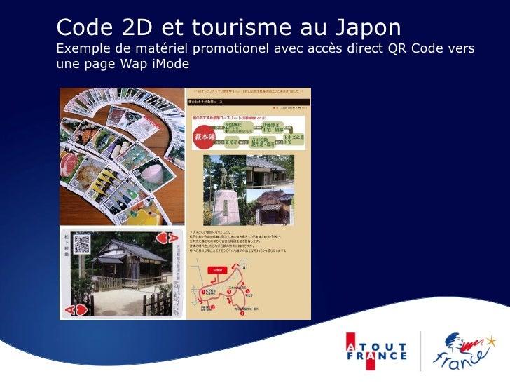 Code 2D et tourisme au Japon Exemple de matériel promotionel avec accès direct QR Code vers une page Wap iMode