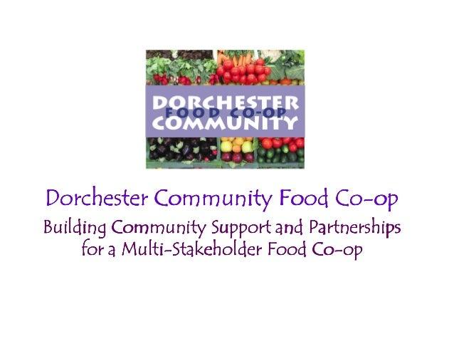Dorchester Community Food CoDorchester Community Food CoDorchester Community Food CoDorchester Community Food Co----opopop...