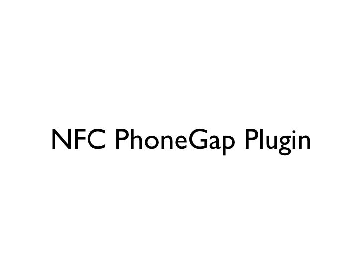 NFC PhoneGap Plugin