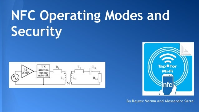 NFC Operating Modes and Security  By Rajeev Verma and Alessandro Sarra