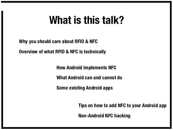 NFC & RFID on Android Slide 2