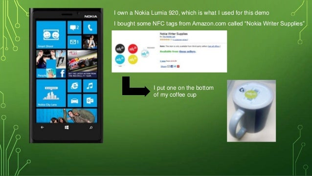Demonstration of setting up and using NFC tags on a Nokia