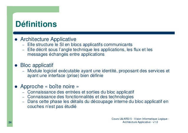 Informatique logiquarchitecture applicative for Architecture informatique definition