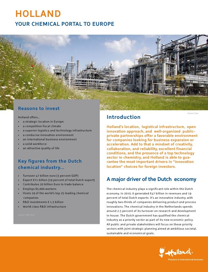 hollandYoUR ChemiCal PoRtal to eURoPeReasons to invest                                                                    ...